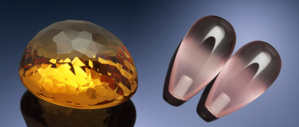 Cut Gemstones - Faceted Gems and Teardrops
